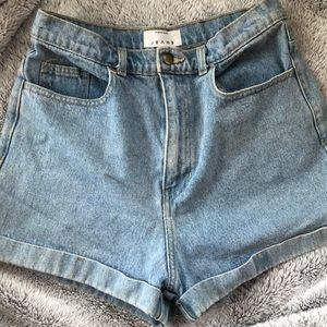 High waisted American Apparel shorts